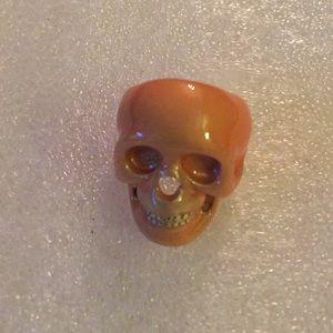 Enamel skull ring